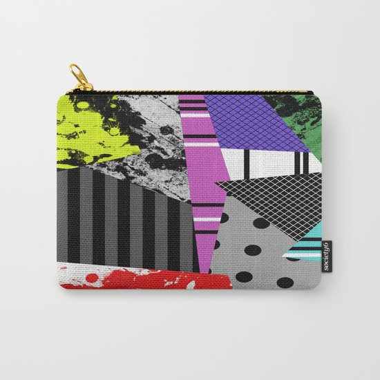 Pick A pattern II - geometric, textured, colourful, splatter, stripes, marble, polka dot, grid Carry-All Pouch