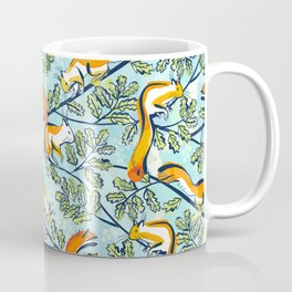 Oak Tree with Squirrels in Summer Coffee Mug