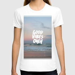 Good Vibes Only Beach and Sunset T-shirt