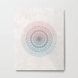 Pastels Mandala Metal Print