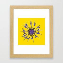 Thin blue flames Framed Art Print