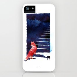 Should I stay? iPhone Case