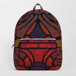 Art Nouveau Glowing Stained Glass Window Design Backpack