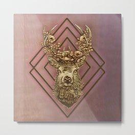 Rosegold deer Metal Print