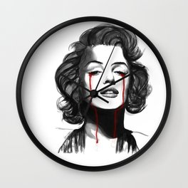 Marylin Monroe Cry Wall Clock