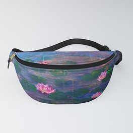 Pink water lilies Fanny Pack