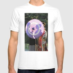 Tokyo Mon Amour White MEDIUM Mens Fitted Tee