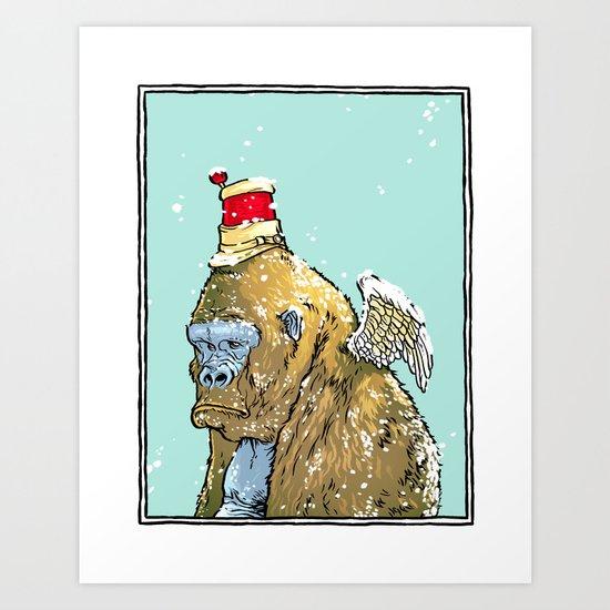 Winged Gorilla Art Print