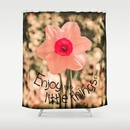 Spring Soft Pink Daffodil Blossom Shower Curtain