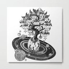 Space tree of Life Metal Print