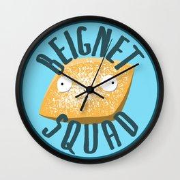 Beignet Squad Wall Clock