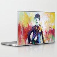 chaplin Laptop & iPad Skins featuring Charlie Chaplin by Marta Zawadzka