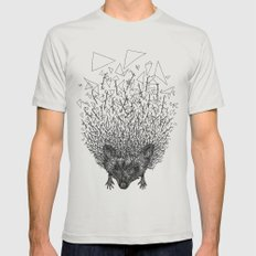 Thorny hedgehog Mens Fitted Tee MEDIUM Silver