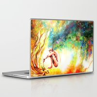 fishing Laptop & iPad Skins featuring FISHING by danyDINIZ