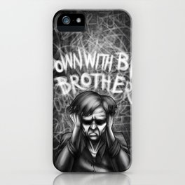 Down with Big Brother iPhone Case