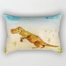 dinosaur in the desert Rectangular Pillow