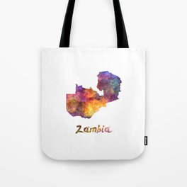 Zambia in watercolor Tote Bag