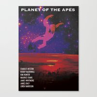 planet of the apes Canvas Prints featuring Planet of the Apes by KevinACArter