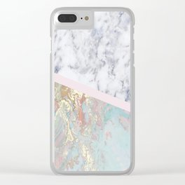 Whimsical marble fantasy Clear iPhone Case