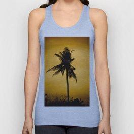 Coconut palm on sunset. Unisex Tank Top