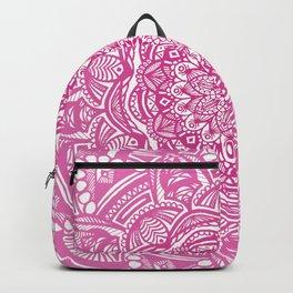 Pink Magenta Detailed Ethnic Eclectic Mandala Mandalas Backpack