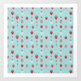StrawberryPattern Art Print