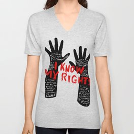 Know your rights Unisex V-Neck
