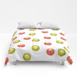 green and red sweetened cherries Comforters