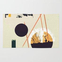 Abstract geometric art Rug