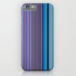 Abstract Vertical Modern mixed stripes v1 iPhone Case