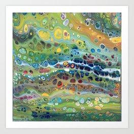 Rainbow Pebbles Acrylic Abstract Art Print