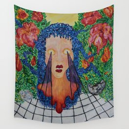 seethrough surreal paint big Wall Tapestry