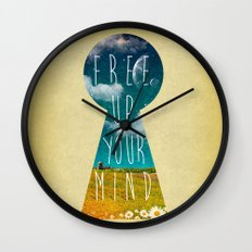 Free Up Your Mind Wall Clock