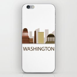 skyline washington iPhone Skin