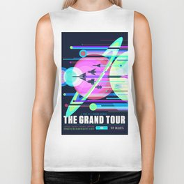 The Grand Tour : Vintage Space Poster Cool Biker Tank