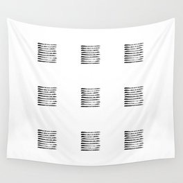 Black striped windows Wall Tapestry