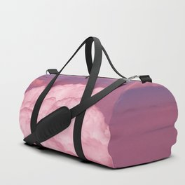 Pink Cotton Candy Clouds Duffle Bag