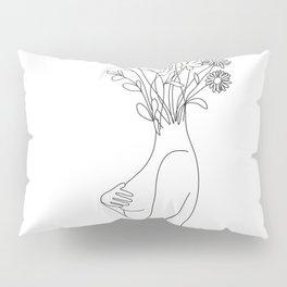 Minimal Line Bloom Pillow Sham