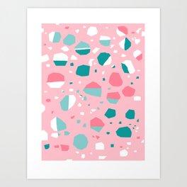 Airhead - memphis throwback retro vintage pastel pink palm springs socal california dreamer pop art Art Print