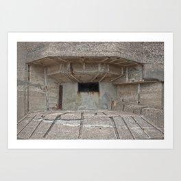 Jersey War Bunker Art Print