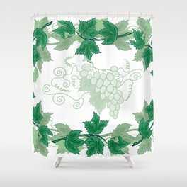 Abstract frame from grapevines Shower Curtain