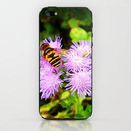 Bee on Ageratum iPhone Skin