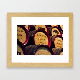 Guinness barrels. Framed Art Print