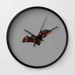 Bat in the cave Wall Clock