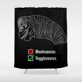 Veggiesaurus Shower Curtain