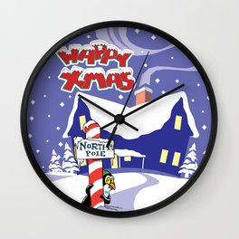 Christmas in North Pole Wall Clock