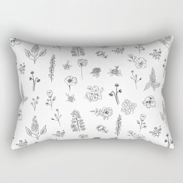 Wildflowers III Rectangular Pillow
