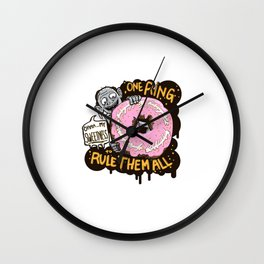 Lord of the Donut Rings Wall Clock