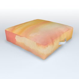 Apricot Sunset Outdoor Floor Cushion