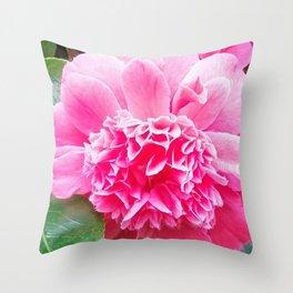 Pink Camelia  Throw Pillow